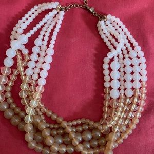 Pink Ombré Multi-strand Necklace